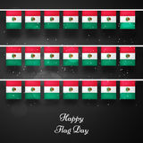 Mexico Flag Day background. Illustration of Mexico Flag for Mexico Flag Day Stock Photos