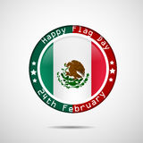 Mexico Flag Day background. Illustration of Mexico Flag for Mexico Flag Day Royalty Free Stock Photos