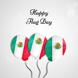 Mexico Flag Day background. Illustration of Mexico Flag for Mexico Flag Day Royalty Free Stock Image
