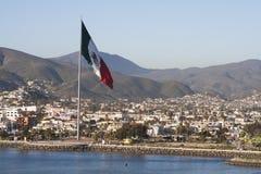 Mexico flag at Ensenada port Stock Photography