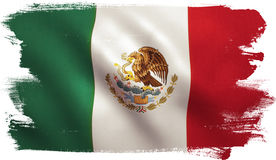Mexico Flag. With fabric texture. 3D illustration Stock Photography