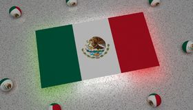 Mexico Flag green white red america vector illustration