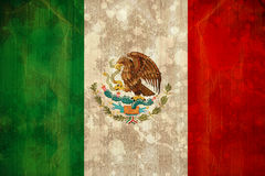 Mexico flag in grunge effect. Digitally generated mexico flag in grunge effect Royalty Free Stock Image