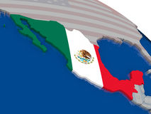 Mexico with flag Stock Image