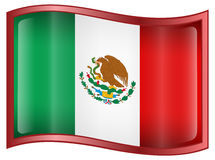 Mexico Flag Icon Stock Images