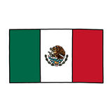 Mexico flag illustration Royalty Free Stock Photography