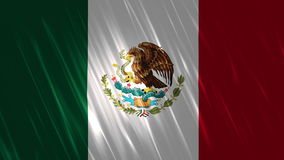 Mexico Flag Loopable Background. Ultra HD, 3840x2160 Pixels, Seamlessly Loopable Flag Animation stock video footage