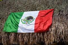 Mexico Flag. The national flag of Mexico on the roof royalty free stock image