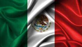 Mexico flag on old background retro effect Stock Photo