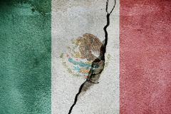 Mexico   FLAG PAINTED ON CRACKED WALL nice. Mexico   FLAG PAINTED ON CRACKED WALL Royalty Free Stock Photo