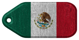 Mexico flag. Painted on wooden tag Royalty Free Stock Photography