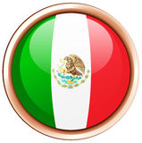 Mexico flag on round frame. Illustration Royalty Free Stock Image
