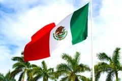 Mexico flag sky. Stock Photo