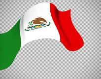 Mexico flag on transparent background Stock Photos