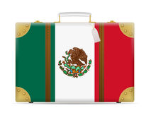 Mexico flag travel suitcase Stock Images