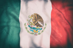 Mexico flag waving Stock Images