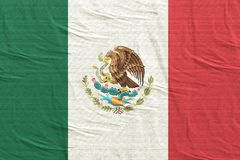 Mexico flag waving. 3d rendering of United Mexican States flag royalty free stock image