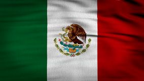 Mexico flag waving 4k. 3d rendered image, flag of Mexico waving with the wind, Mexican flag composed by a three vertical lines, red white and green with an eagle stock video footage