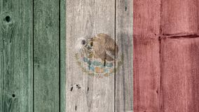 Mexico Flag Wooden Fence. Mexico Politics News Concept: Mexican Flag Wooden Fence stock images