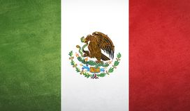 Mexico flaggatextur Fotografering för Bildbyråer