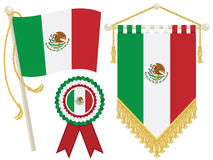 Mexico flags Stock Image