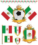Mexico flags Royalty Free Stock Images
