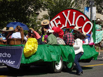 Mexico Float at the Festival Royalty Free Stock Photo