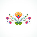 Mexico flowers ornament. Vector illustration. Stock Images
