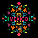 Mexico flowers, pattern and elements. Vector. Stock Photography