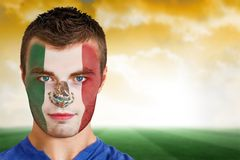 Mexico football fan in face paint Royalty Free Stock Photography