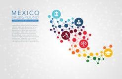 Mexico gestippelde vectorachtergrond Royalty-vrije Stock Foto