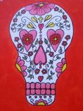Mexico godisskalle som jag målade Royaltyfri Bild