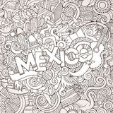 Mexico hand lettering and doodles elements Stock Photos