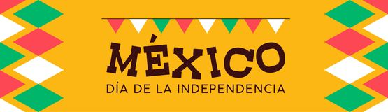 Mexico independence day banner background. Mexico happy independence day illustration background. Mexican multicolor national event celebration design banner vector illustration