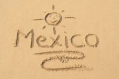 Mexico in het Zand Stock Fotografie