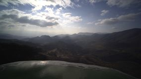 Mexico Hierve el Agua. Paniram from mauntain view to natural mineral  pool, Mexico Hierve el Agua stock footage