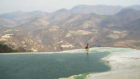Mexico Hierve el Agua stock video footage