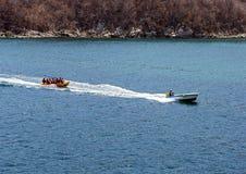 Mexico. Huatulco. Marine fun. banana boat  Stock Images