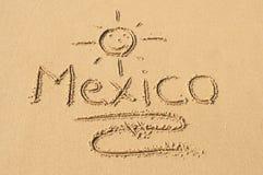 Mexico i sanden Arkivbild