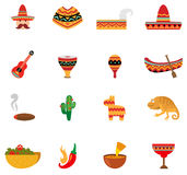 Mexico icons  Stock Images