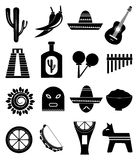 Mexico icons set Stock Images