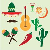 Mexico icons set Royalty Free Stock Photography