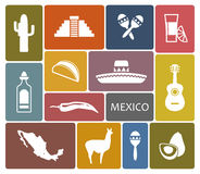 Mexico icons Royalty Free Stock Image