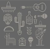 Mexico icons Stock Photos