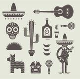 Mexico icons Royalty Free Stock Photos
