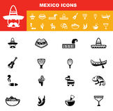 Mexico icons vector Royalty Free Stock Image