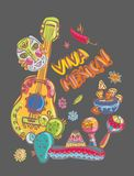 Mexico illustrations collection. Colorful elements for design Royalty Free Stock Photography