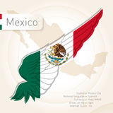 Mexico infographics with flag, map and information. Vector illus Stock Photo