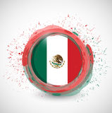 Mexico ink circle flag illustration design Royalty Free Stock Photography