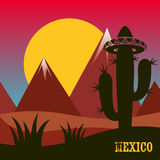Mexico inspired card Royalty Free Stock Photo